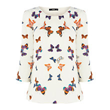 Buy Oasis Butterfly Top, Multi Online at johnlewis.com