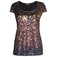 Buy Phase Eight Judy Sequin Ombre Top, Multi Online at johnlewis.com