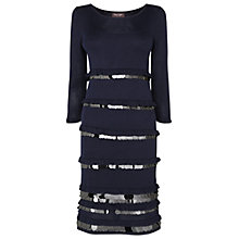 Buy Phase Eight Sofia Sequin Disk Dress, Navy Online at johnlewis.com