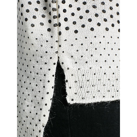 Buy Mango Polka Dot Print Jumper, Natural White Online at johnlewis.com