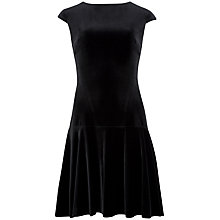 Buy Ted Baker Tinna Velvet Dress, Black Online at johnlewis.com