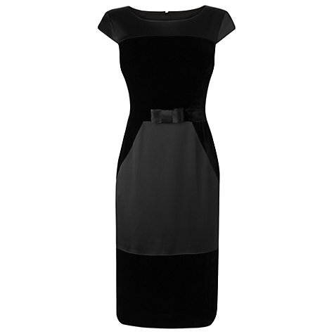Buy Phase Eight Daria Velvet Dress, Black Online at johnlewis.com
