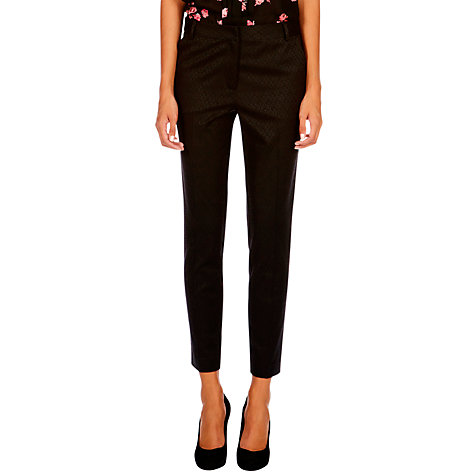 Buy Oasis Leila Peacock Trouser, Black Online at johnlewis.com