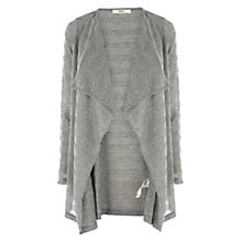 Buy Oasis Stripe Drape Cardigan, Grey Online at johnlewis.com