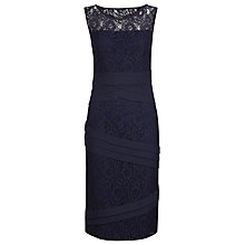 Buy Alexon Lace Chiffon Tiered Dress, Blue Online at johnlewis.com