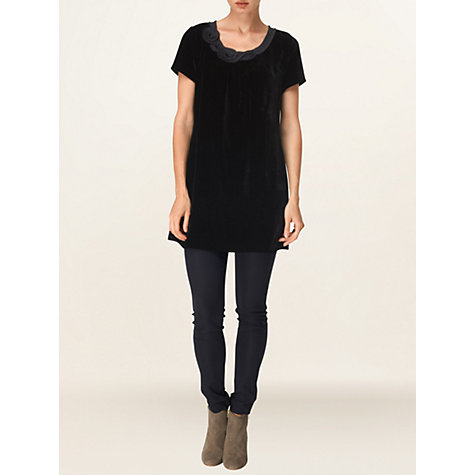 Buy Phase Eight Genevieve Velvet Tunic Dress, Black Online at johnlewis.com