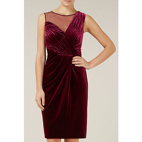 Buy Alexon Velvet Midi Dress, Red Online at johnlewis.com