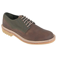 Buy Barbour Osset Leather Derby Shoes, Brown Online at johnlewis.com