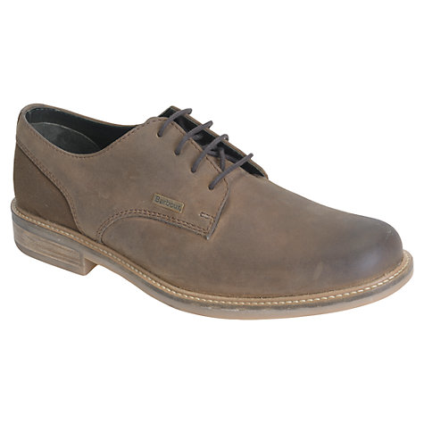 Buy Barbour Cottam Derby Leather Shoes, Tan Online at johnlewis.com