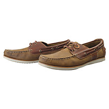Buy Barbour Flinder Boat Shoes, Beige Online at johnlewis.com