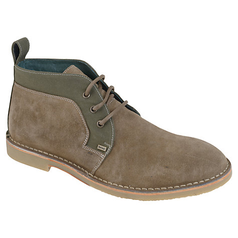 Buy Barbour Ledger Suede Desert Boots, Taupe/Khaki Online at johnlewis.com
