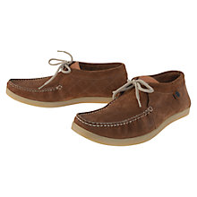 Buy Barbour Fenton Suede Moccasins, Tobacco Online at johnlewis.com