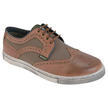 Buy Barbour Falstaff Brogue Trainers, Tan Online at johnlewis.com