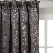 Buy John Lewis Botanical Field Lined Pencil Pleat Curtains, Steel Online at johnlewis.com