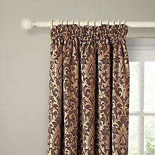 Buy John Lewis Kensington Lined Pencil Pleat Curtains, Aubergine Online at johnlewis.com