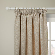 Buy John Lewis Tate Lined Pencil Pleat Curtains, Natural Online at johnlewis.com