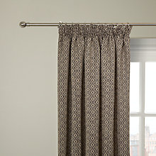 Buy John Lewis Inca Lined Pencil Pleat Curtains, Black Online at johnlewis.com