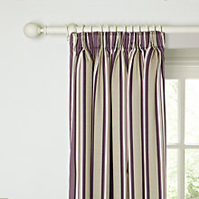 Buy John Lewis Alban Stripe Lined Pencil Pleat Curtains, Cassis Online at johnlewis.com