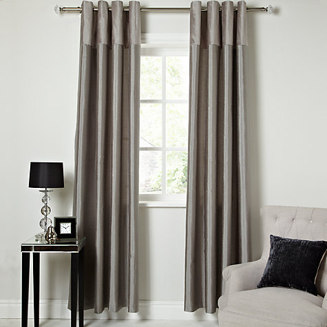 Buy John Lewis Embossed Wave Lined Eyelet Curtains Online at johnlewis.com