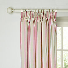 Buy John Lewis Dalton Lined Pencil Pleat Curtains, Pink Online at johnlewis.com