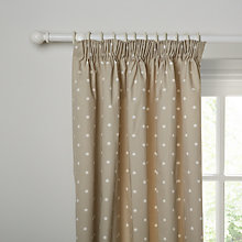 Buy John Lewis Country Spot Lined Pencil Pleat Curtains Online at johnlewis.com
