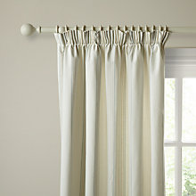 Buy John Lewis Wide Maison Stripe Lined Pencil Pleat Curtains, Grey Online at johnlewis.com