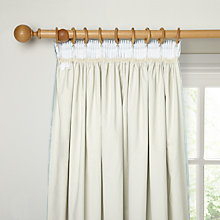Buy John Lewis Pencil Pleat Blackout Curtain Linings, Natural Online at johnlewis.com