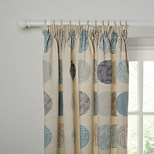 Buy John Lewis Elements Lined Pencil Peat Curtains, Blue Online at johnlewis.com