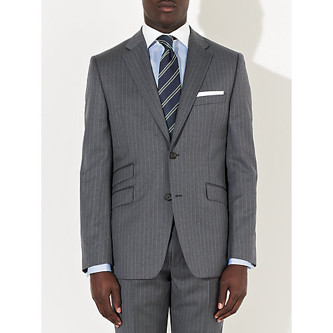 Buy John Lewis Tailored Italian Pinstripe Suit Jacket, Grey Online at johnlewis.com