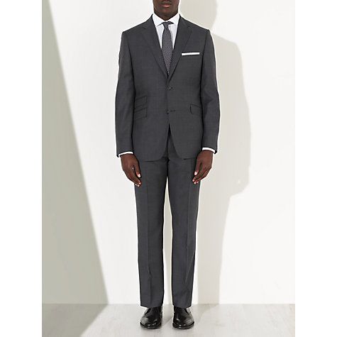 Buy John Lewis Tailored Italian Check Suit Trousers, Charcoal Online at johnlewis.com