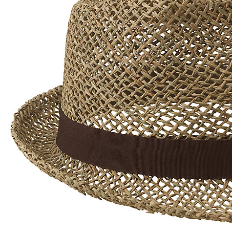 Buy John Lewis Seagrass Trilby Hat, Brown Online at johnlewis.com