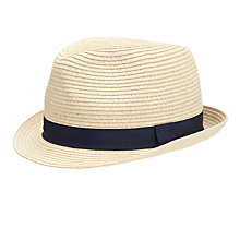 Buy John Lewis Packable Trilby Hat, Brown Online at johnlewis.com