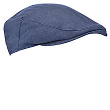 Buy John Lewis Herringbone Cotton Flat Cap, Navy Online at johnlewis.com