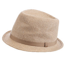 Buy John Lewis Hessian Smart Trilby Hat, Grey Online at johnlewis.com