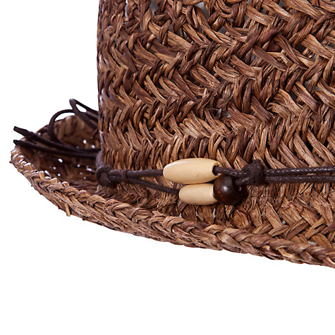 Buy John Lewis Straw Fedora Hat, Brown Online at johnlewis.com
