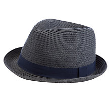Buy John Lewis Plain Trilby Hat, Charcoal Online at johnlewis.com