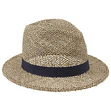 Buy John Lewis Seagrass Fedora Hat, Navy Online at johnlewis.com