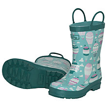 Buy Hatley Hot Air Balloon Wellington Boots, Green Online at johnlewis.com