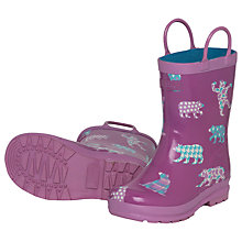 Buy Hatley Bears Wellington Boots, Purple Online at johnlewis.com