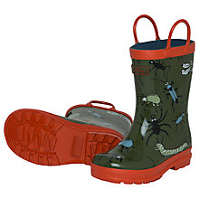 Buy Hatley Bugs Wellington Boots, Green/Red Online at johnlewis.com