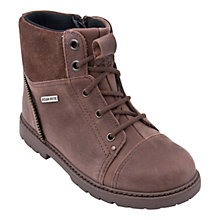 Buy Start-rite Aqua-Tuff Leather Zip-up Boots, Brown Online at johnlewis.com