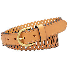 Buy Fossil Perforated Leather Lace Belt Online at johnlewis.com