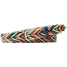 Buy Fossil Fishtail Braid Leather Belt, Blue/Multi Online at johnlewis.com