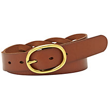 Buy Fossil Braided Oval Belt Online at johnlewis.com