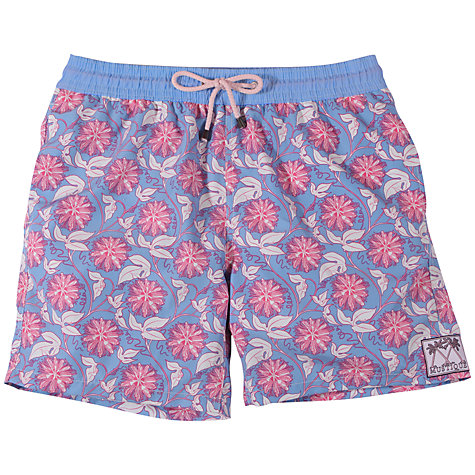 Buy Pink House Mustique Passion Flower Swim Shorts, Pink/Blue Online at johnlewis.com