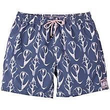 Buy Pink House Mustique Shell Print Swim Shorts, Navy Online at johnlewis.com