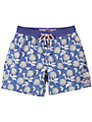 Pink House Mustique Passion Flower Swim Shorts, Blue/White
