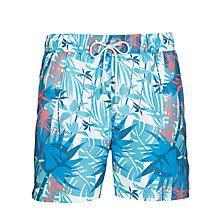 Buy Oiler & Boiler Tropical Print Shorts, Blue/Multi Online at johnlewis.com