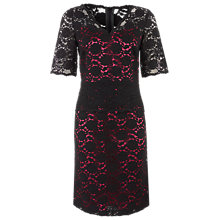 Buy Kaliko Lace Peplum Dress, Black Online at johnlewis.com