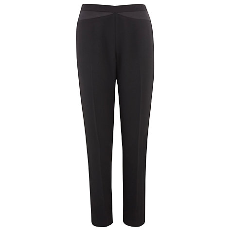 Buy Kaliko Satin Trim Slim Trousers, Black Online at johnlewis.com